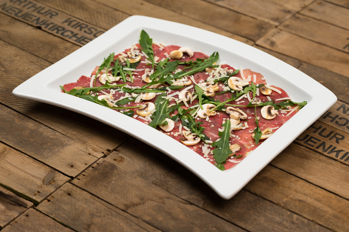 Rindercarpaccio Buffetplatten bei green lovers Catering
