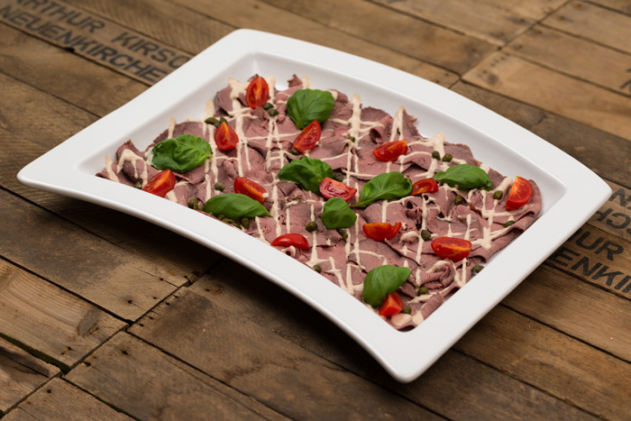 Vitello Tonnato Buffetplatten bei green lovers Catering