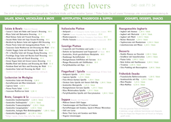 green lovers Catering-Karte Download